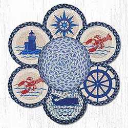 Nautical Braided Jute Trivet Set