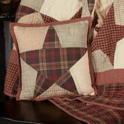 Abilene Star Quilted Throw Pillow