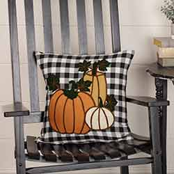 Buffalo Black Check Pumpkin Pillow