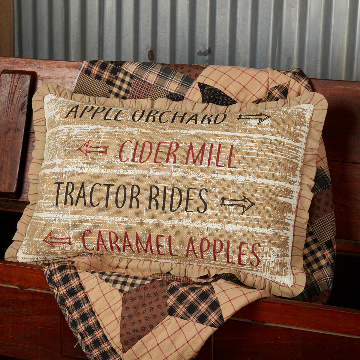 Orchard Sign Throw Pillow