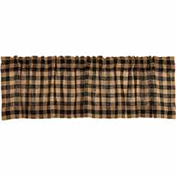 Burlap Black Check Valance