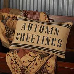 Heritage Farms Autumn Greetings Throw Pillow