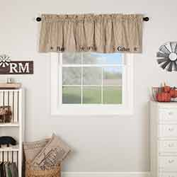 Sawyer Mill Charcoal Gather Valance 20x90