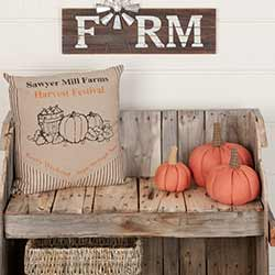 Sawyer Mill Charcoal Harvest Festival Pillow