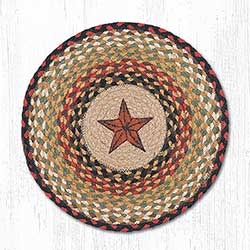 Barn Star Round Braided Placemat