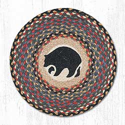 Black Bear Round Placemat