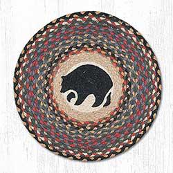 Black Bear Round Placemat