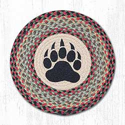 Bear Paw Round Placemat
