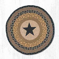 Black Star Round Placemat (Brown & Black)