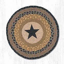 Black Star Round Placemat (Brown & Black)