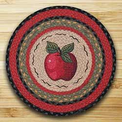 Apple Braided Jute Placemat