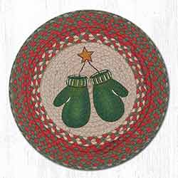 Mittens Braided Placemat - Round