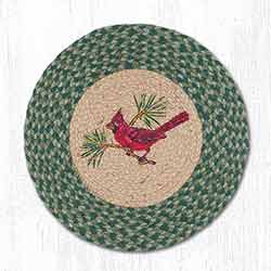 Cardinal Braided Placemat - Round