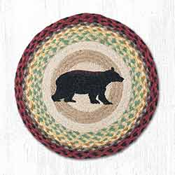 Cabin Bear Braided Placemat - Round