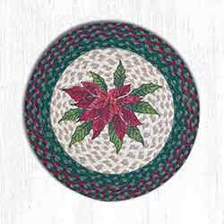 Poinsettia Braided Placemat - Round