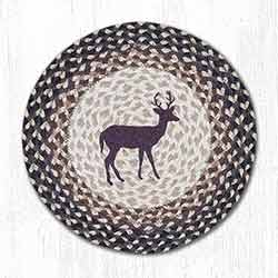 Little Buck Braided Placemat - Round