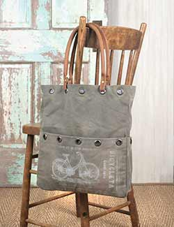 Vintage Bicycle Market Bag