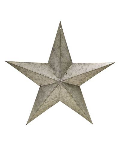 Galvanized Metal Barn Star, 18 inch