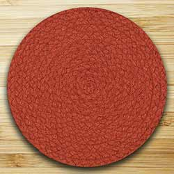 Fiesta Paprika Braided Tablemat (10 inch)