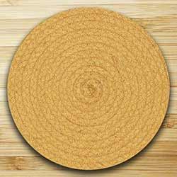 Fiesta Marigold Braided Tablemat (10 inch)
