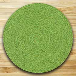 Fiesta Lime Braided Tablemat (10 inch)