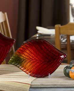 Glass Leaf Plate - Small