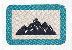 Mountain Silhouette Oblong Printed Placemat