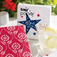 TAG Shooting Stars Paper Cocktail Napkins