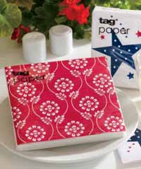 TAG Floral Bandana Paper Luncheon Napkins