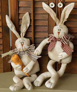 Grubby Carrot Farmer Bunnies (Set of 2)