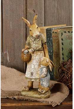Vintage Mama Rabbit with Child