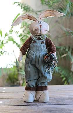 Kountry Kousins Male Bunny with Carrots