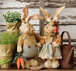 Kountry Kousins Bunny Couple (Set of 2)