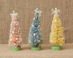 Easter Bottle Brush Trees (Set of 3)