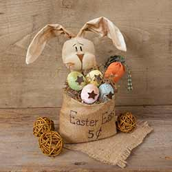 Easter Bunny in Burlap Bag