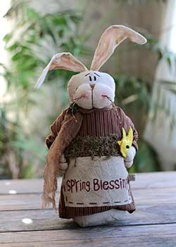 Spring Blessings Primitive Bunny