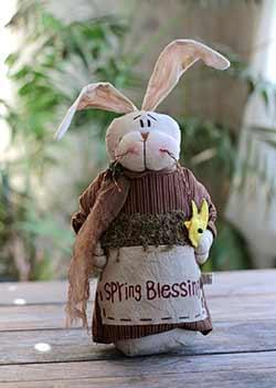 Spring Blessings Primitive Bunny