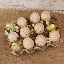 Spring Speckled Egg & Chick Set
