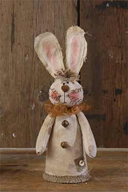 Rustic Bunny with Bells and Burlap