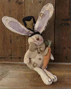 Sitting Bunny with Burlap