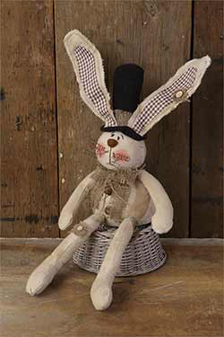 Sitting Bunny with Top Hat
