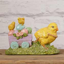 Vintage Easter Chick with Egg Cart