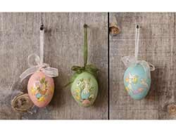 Vintage Easter Egg Ornaments (Set of 3)