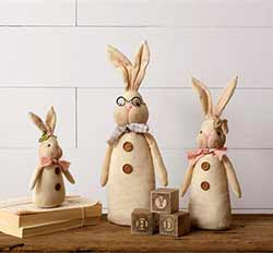 Country Bunny Doll Family (Set of 3)