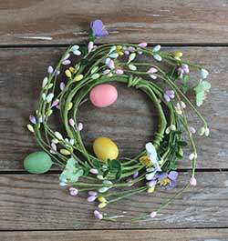 Pastel Berries & Eggs Candle Ring