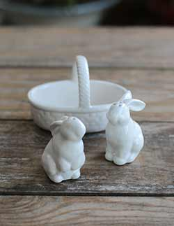 Bunnies in Basket Salt & Pepper Shaker Set