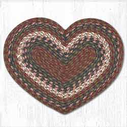 Burgundy and Gray Heart Placemat