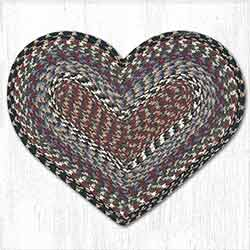 Burgundy, Blue, and Gray Heart Placemat
