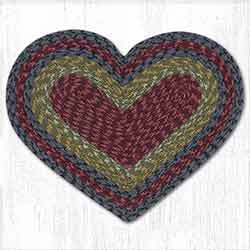 Burgundy, Olive, and Charcoal Heart Placemat