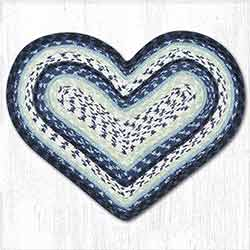 Blueberry and Cream Heart Placemat